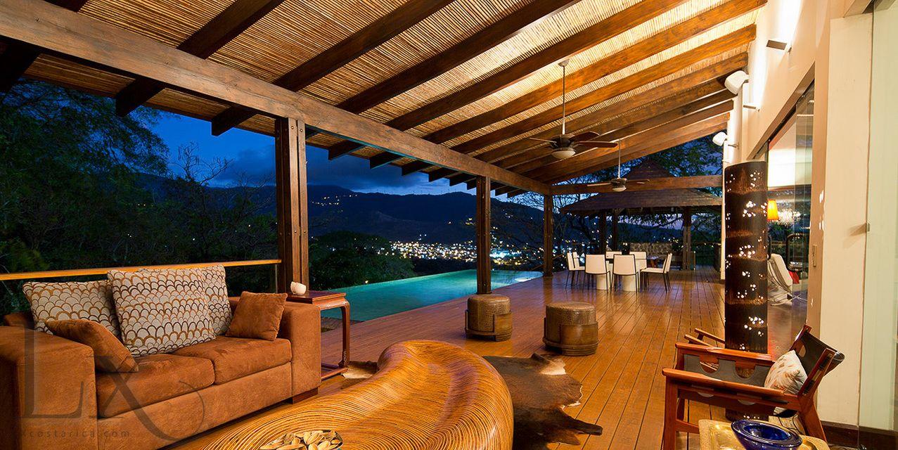 Amazing terrace and view at Casa Essentia in Villa Real http://lxcostarica.com/property/casa-essentia-villa-real Santa Ana, Costa Rica