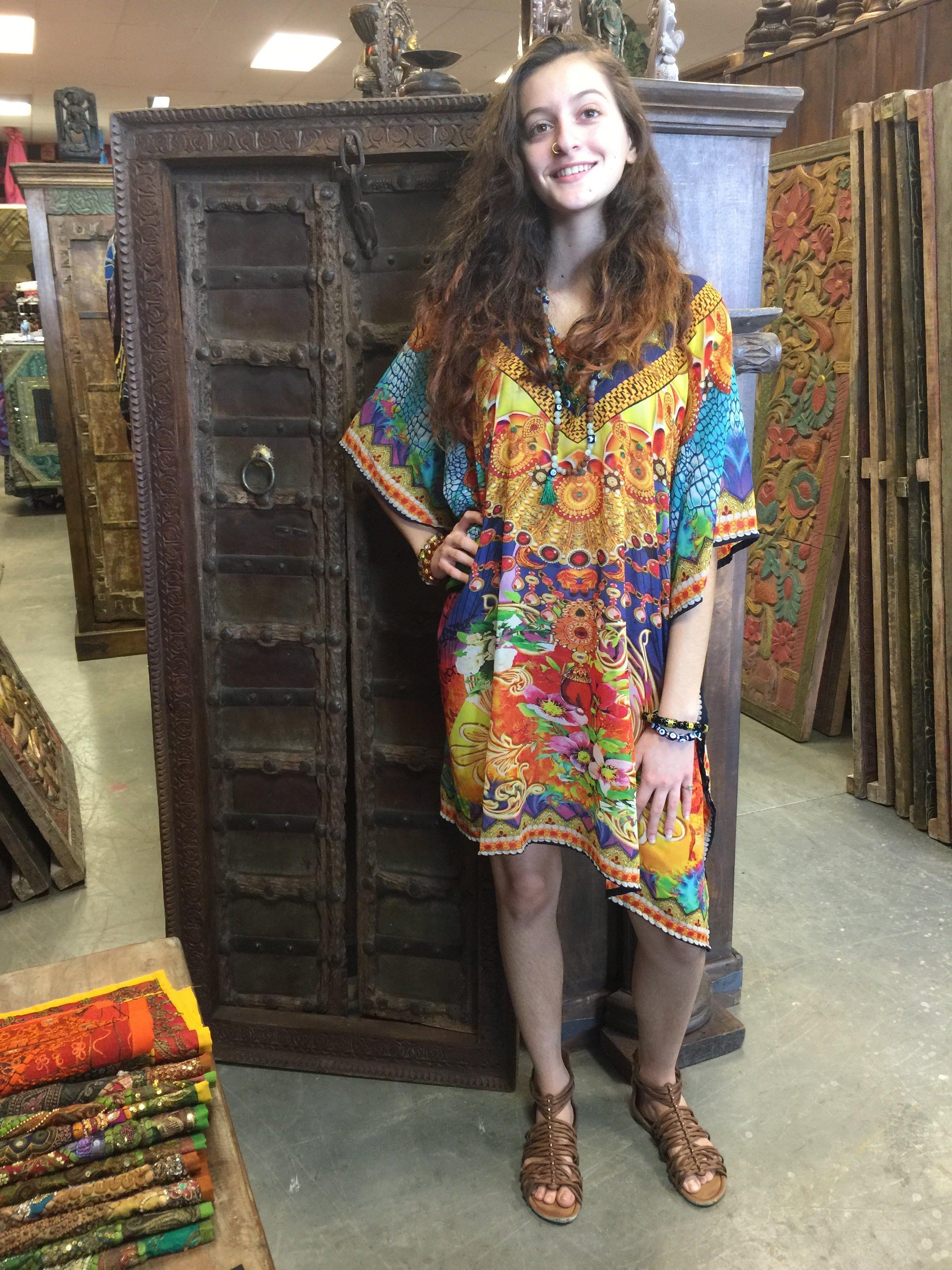 5a663f9f9d Digital Printed Kaftan gives dress a beautiful look