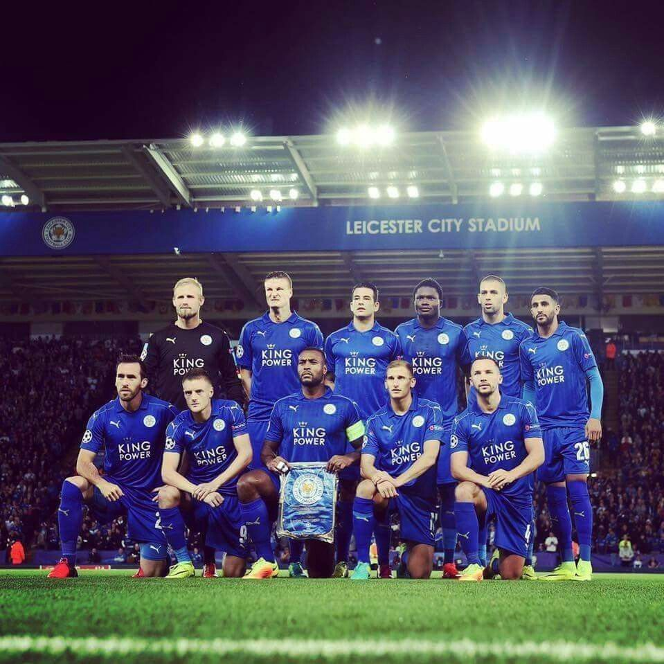 Leicester City Line Up V Porto Before Their First Ever Champions League Game At At Leiceste Leicester City Football Leicester City Football Club Leicester City