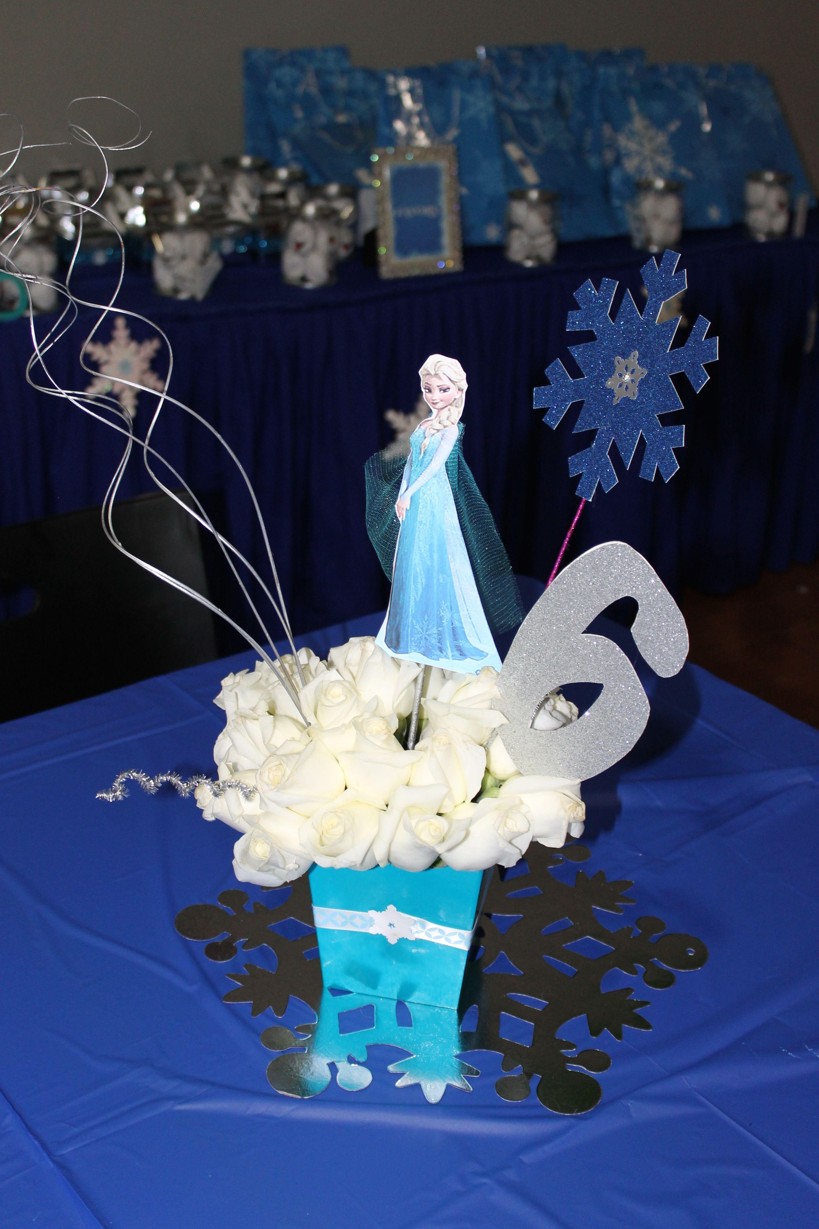 Disney Frozen centerpiece Birthday Parties Pinterest Disney
