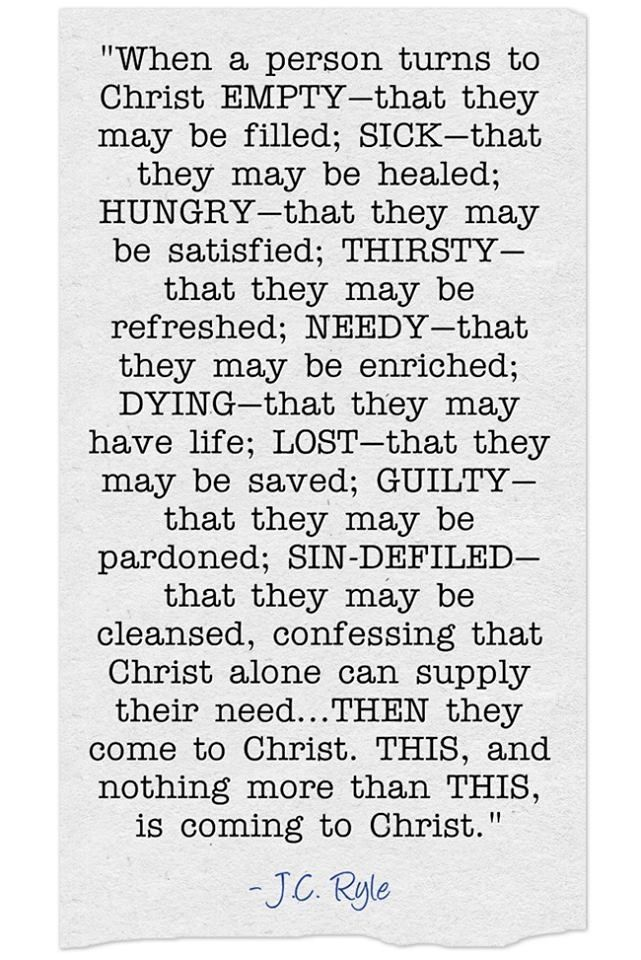 Coming to Christ as an empty-handed child :)