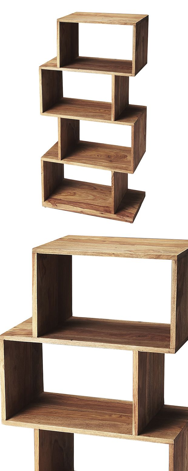 With its stunning modular design, this Stacked Étagère is the perfect showcase for your most stylish modern space. Beautifully crafted from gorgeously grained sheesham wood, this unit has a charming ru... Find the Stacked Étagère, as seen in the National Park Pass Collection at http://dotandbo.com/collections/national-park-pass?utm_source=pinterest&utm_medium=organic&db_sku=123317