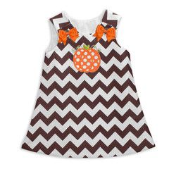 Brown Chevron Aline Dress