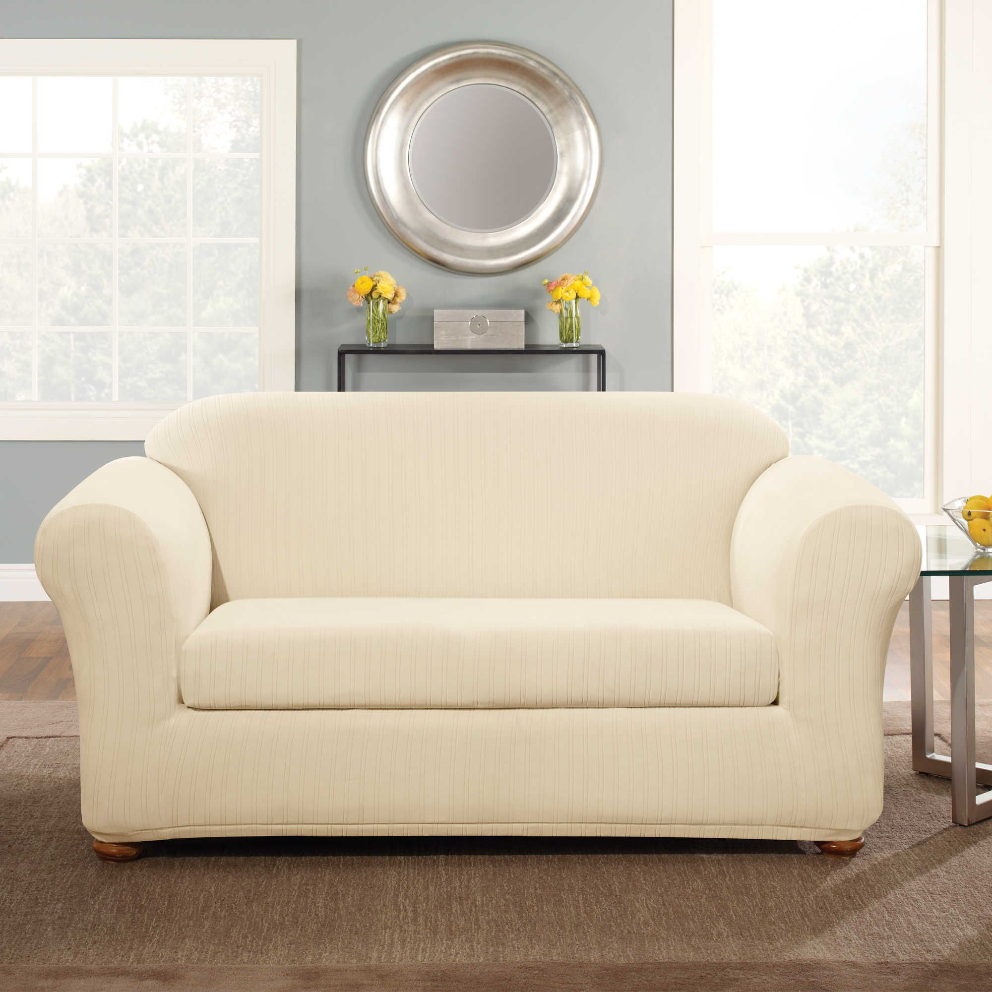 free t cushion slipcovers stretch piece product garden sure slipcover loveseat fit home