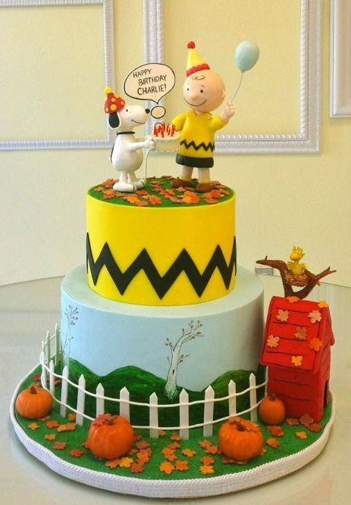 Charlie Brown cake #charliebrown #snoopy #birthdaycake | It\'s a ...