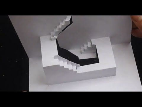 Staircase Pop Up Card Tutorial Origamic Architecture Youtube Pop Up Card Templates Card Tutorial Pop Up Art