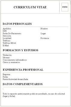 Pin De Poyoac22 En Cv Pinterest Descargar Curriculum