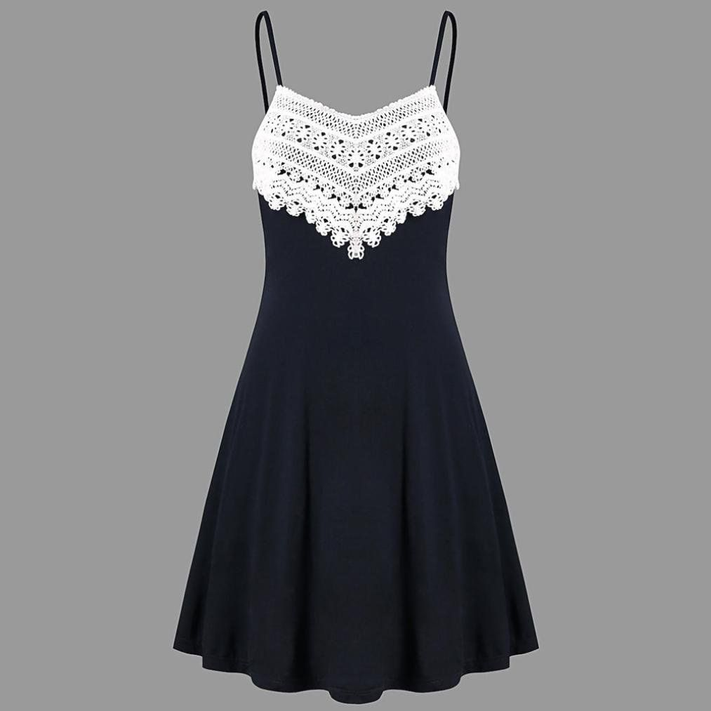 721a7c03992 VEZAD Fashion Crochet Lace Backless Mini Slip Womens Dress Camisole  Sleeveless Dress     More info could be found at the image url. (This is an  affiliate ...
