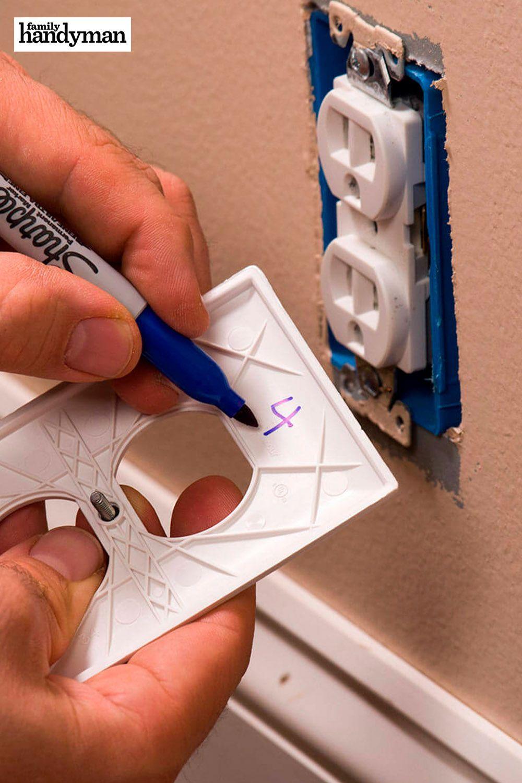 Electrical Hack: Note Breaker Number On Outlet Cover #familyhandymanstuff
