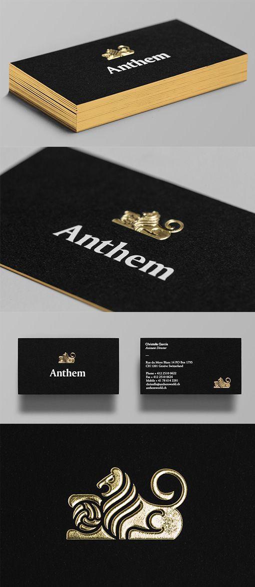 Distinctive gold foil embossed logo on a black business card black distinctive gold foil embossed logo on a black business card reheart Choice Image