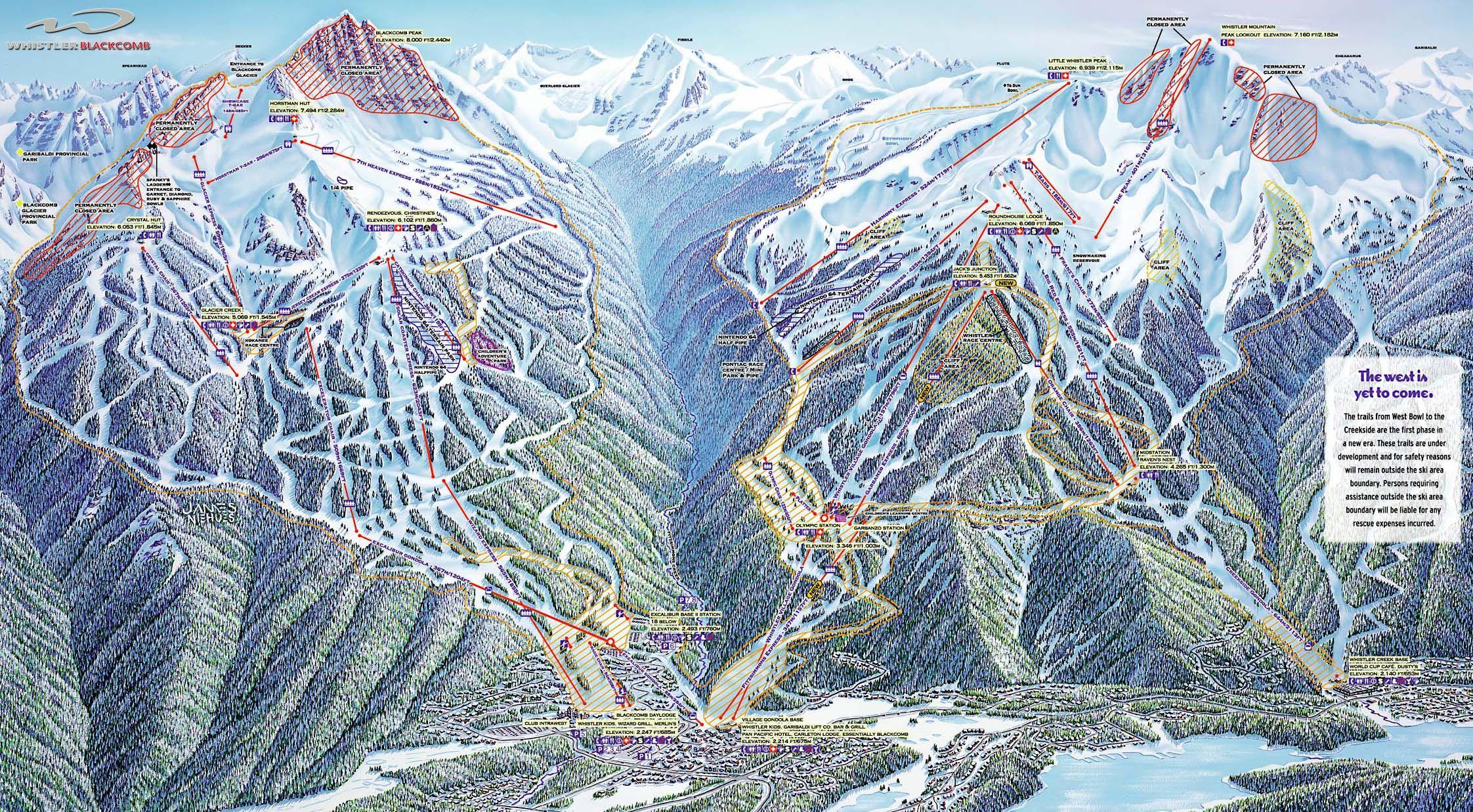 Whistler Ski Map Whistler | Ski maps | Whistler, Skiing, Transworld snowboarding Whistler Ski Map