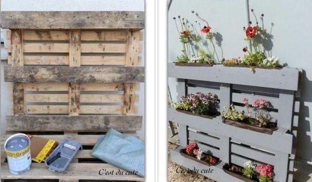 recycler une palette en jardini re pour le jardin jardin pinterest jardini res palette et. Black Bedroom Furniture Sets. Home Design Ideas