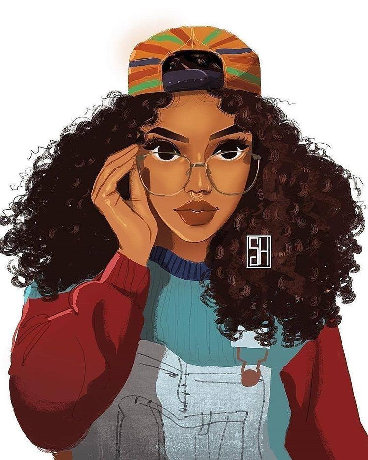 Celebrating Natural Hair And Texture Diversity Art By Brienneyvonne Black Girl Art Female Art Afro Art