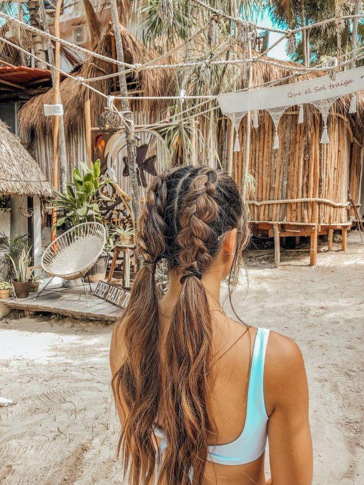 Peinados fáciles para cabello largo en la playa – Mentalidad Viajera