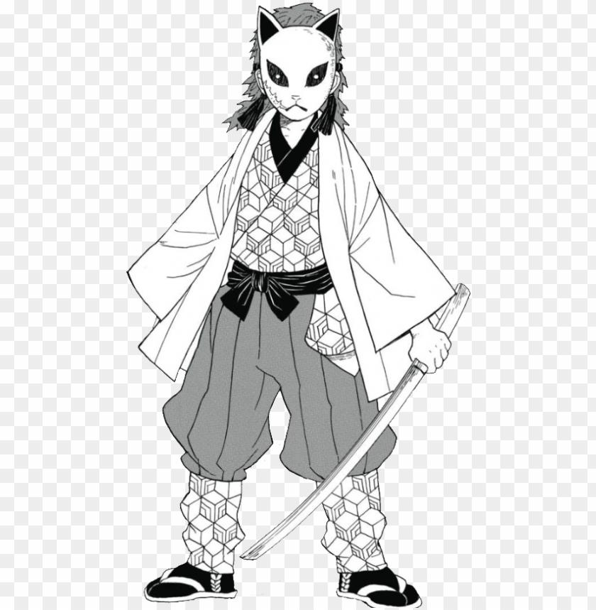 Kimetsu No Yaiba Sabito Manga Black And White Png Image With Transparent Background Png Free Png Images Manga Black And White Slayer