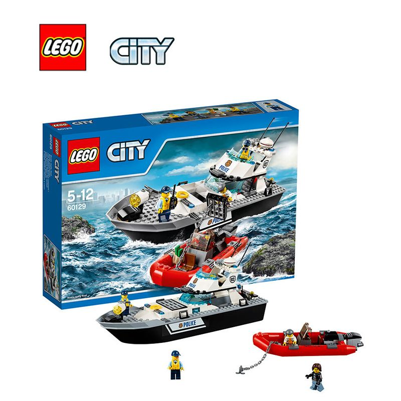 Lego City Police Patrol Boat Architecture Building Blocks Model Kit Plate Educational Toys For Children Legc60129 Lego City Police Lego Police Lego City