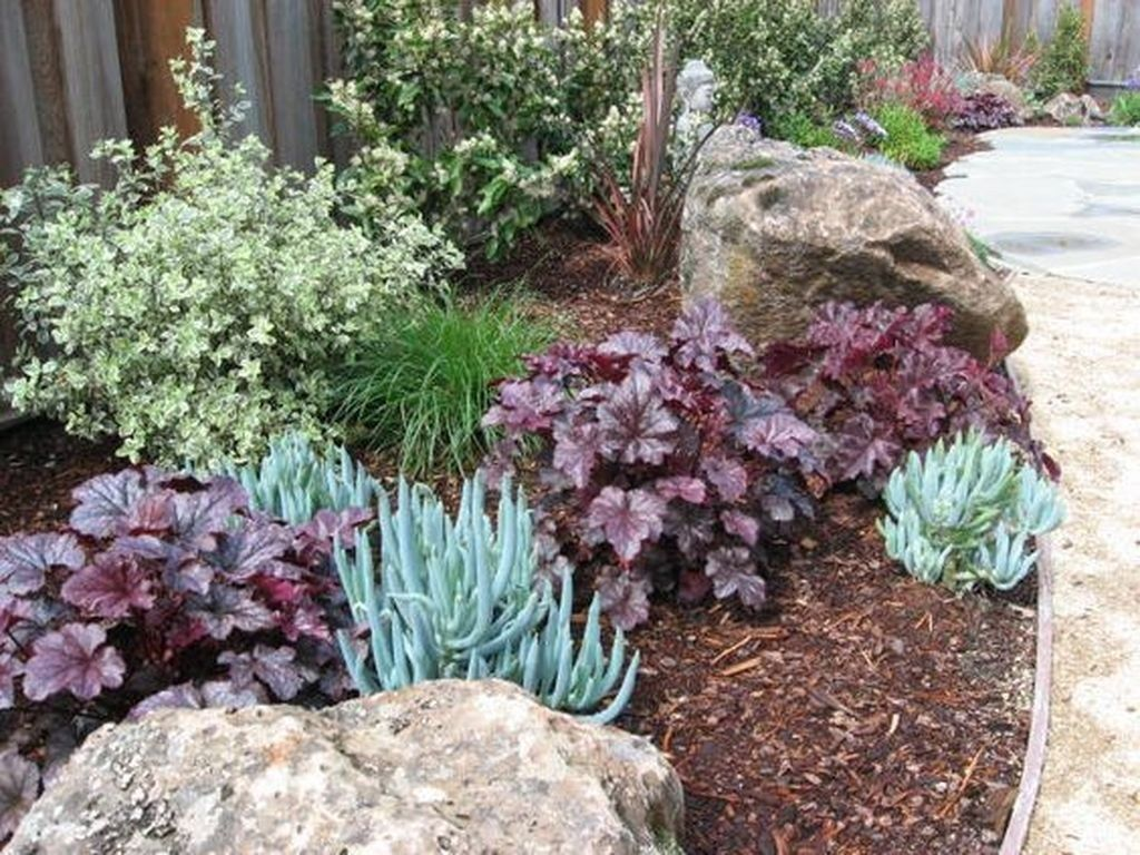 adorable colorful front garden