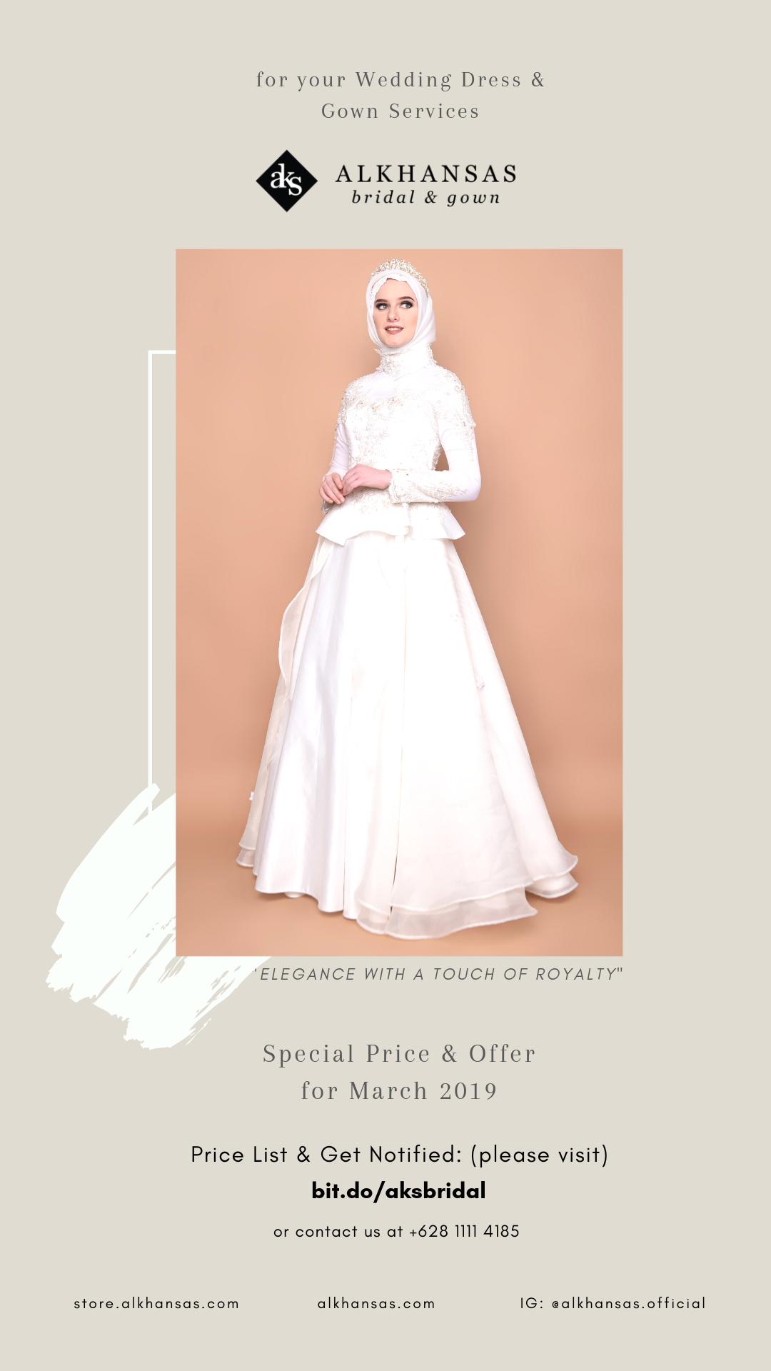 Gaun Pengantin Muslimah 12 by ALKHANSAS Bridal & Gown  Gaun