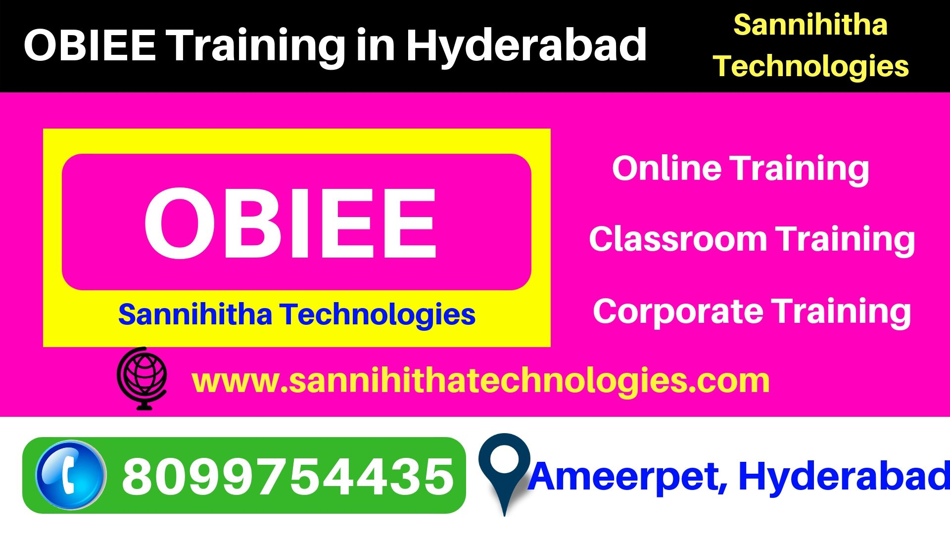 Best OBIEE training in Hyderabad, Ameerpet offers live