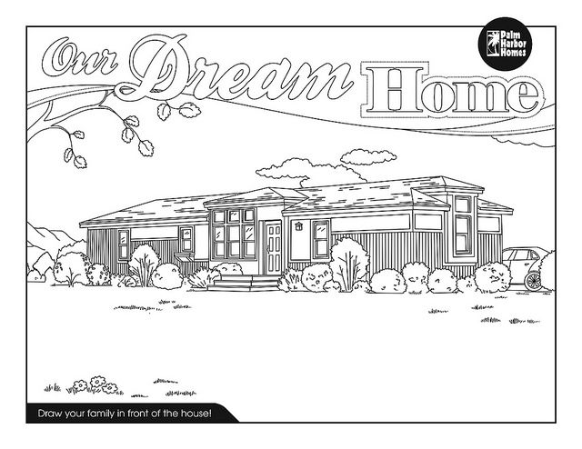 Free Printable Dream Home Coloring Page
