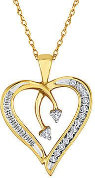 Jcpenney fine jewelry 15 ct tw diamond 10k yellow gold heart jcpenney fine jewelry 15 ct tw diamond 10k yellow gold heart arrow aloadofball Choice Image