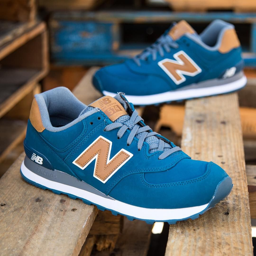 New Balance 574 Lux: BlueTan | Sneakers in 2019 | New