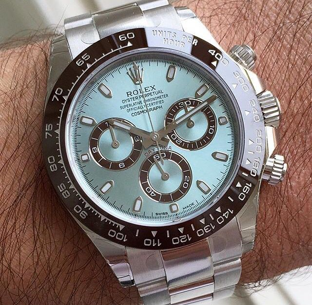 Rolex Daytona in platinum