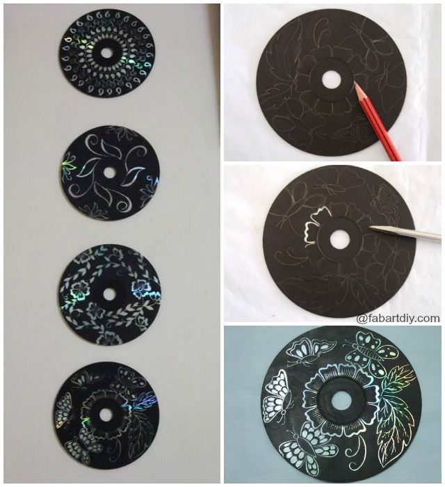 DIY Recycled CD Wall Art #recycledcd DIY Recycled CD Wall Art , Painting Ideas for Home Decoration #Crafts, #Recycle #recycledcd