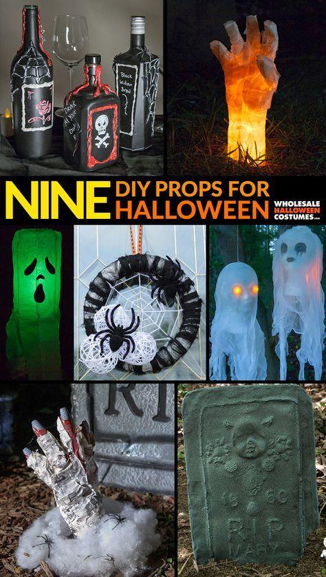 9 DIY Halloween Decorations Diy outdoor halloween Pinterest