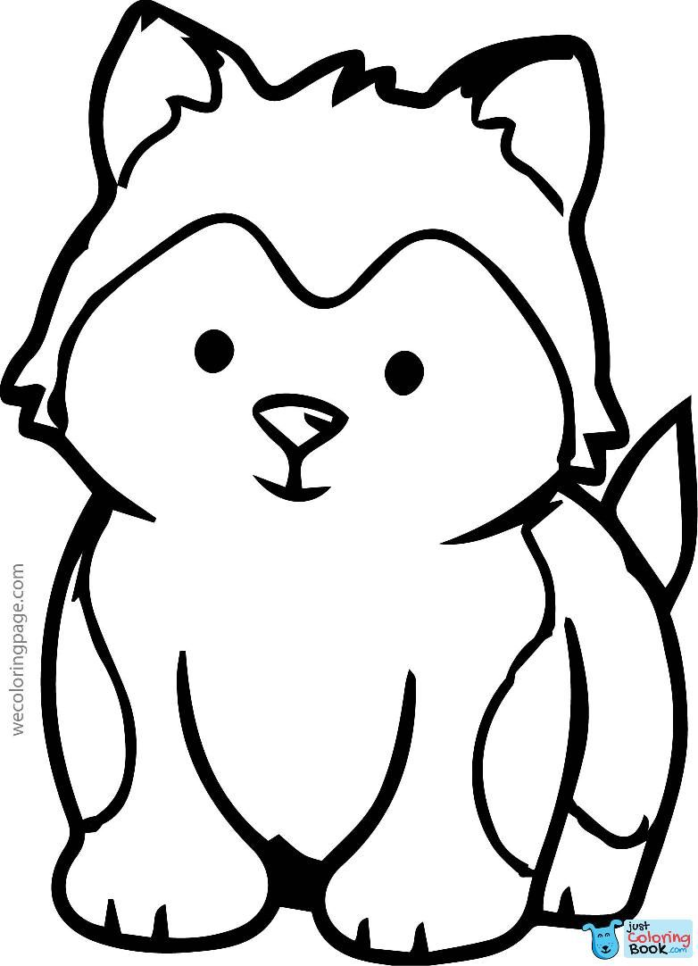 Cool Husky Baby Coloring Page Wecoloringpage Baby Coloring Pages For Husky Coloring Pa Zoo Animal Coloring Pages Farm Animal Coloring Pages Dog Coloring Page