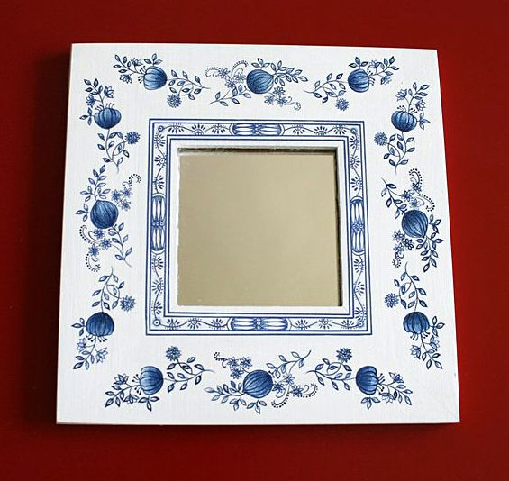 Painted mirror frames | For the Home | Pinterest | Paint mirror ...