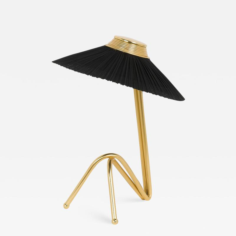 Sabrina Landini Freevolle Led Table Lamp In Brass And Pleated Linen Or Silk Taffeta Led Table Lamp Modern Table Lamp Table Lamp