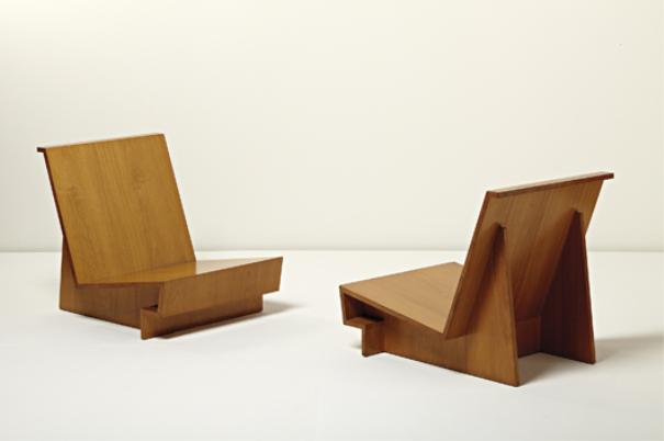 Phillips Ny050210 Frank Lloyd Wright Pair Of Usonian Chairs