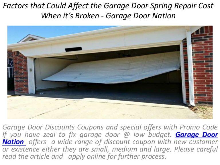 Garage Door Nation Is A Leading Supplier For Garage Door Parts At Wholesale Prices Our Team Has Dec Garage Door Spring Repair Garage Door Springs Garage Doors