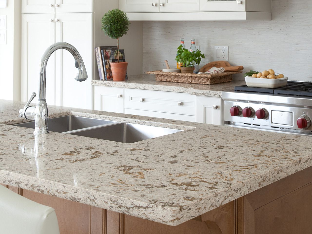 Cambria Quartz Surfaces Are Making Waves. Just Like Natural Granite:  Cambria Windermere