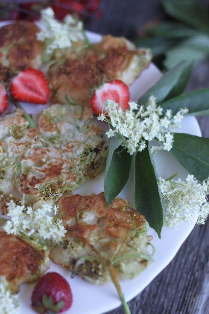 Smakowity Blog Kulinarny Kwiaty Czarnego Bzu W Ciescie Nalesnikowym Food Vegetables Chicken