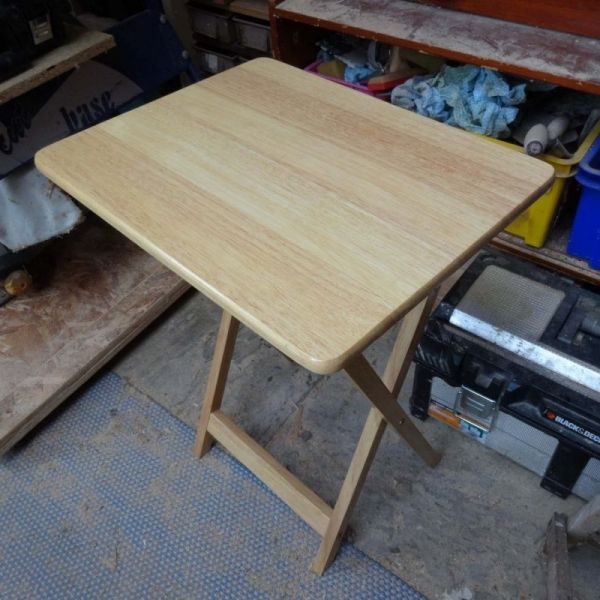 A Simple Project To Straighten And Level Legs On A Folding Table To Give It A Wider Surface Area To Firmly Sit Folding Table Diy Folding Table Farm Style Table