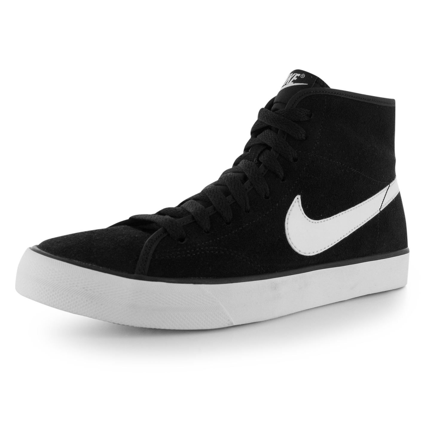 Nike Primo Suede Mid Top Women's Training Shoes Black/White