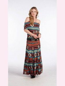 Rancho Estancia Southern Aztec! Wear this one off the shoulder or the ties make it so you can sit it on the shoulder.