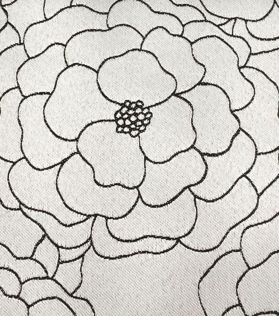 Outdoor Fabric Dahlia Black White Jo Ann Outdoor Fabric Fabric Black And White