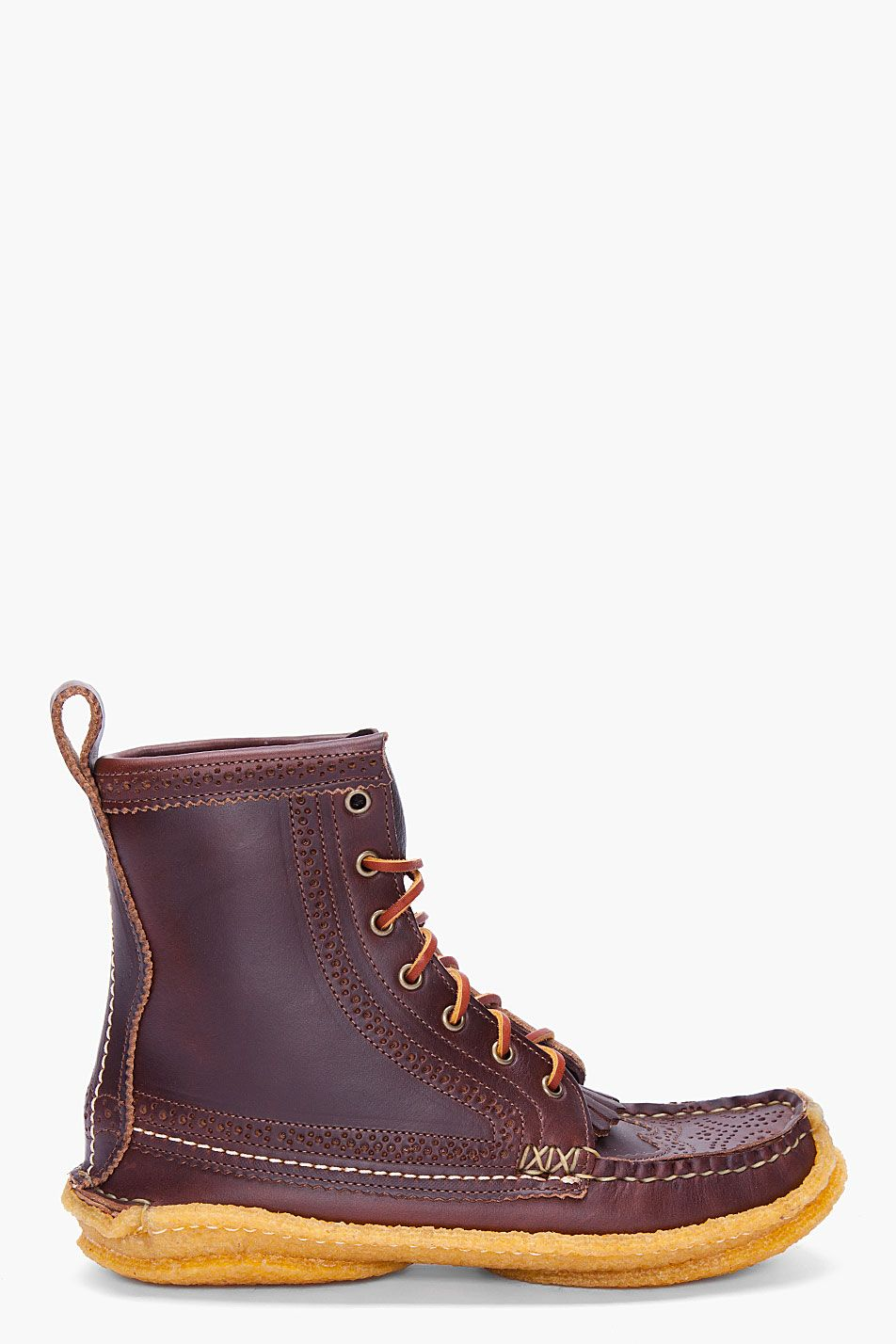 Yuketen Brown Wingtip Huntings Boots