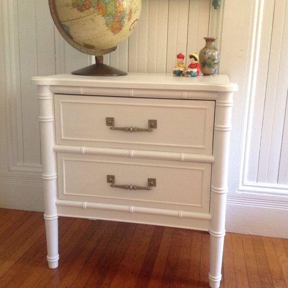 Midcentury Hollywood Regency Faux Bamboo By