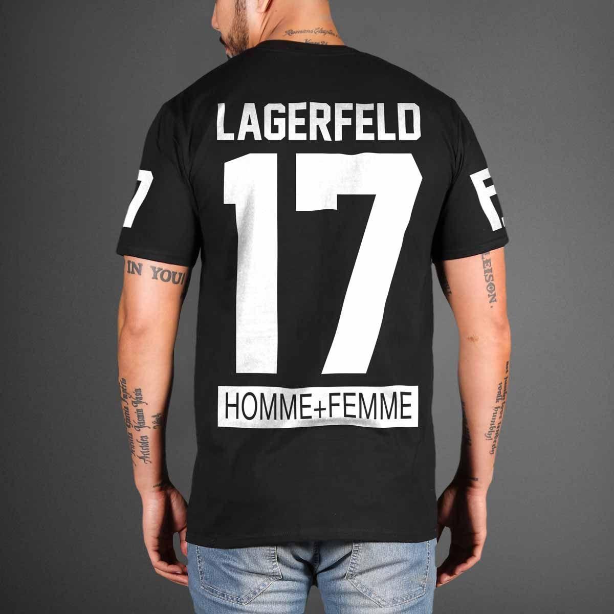 ecb31656bc16 HOMME FEMME LA Karl Lagerfeld x Fendi Hockey T-Shirt   swag   Swag ...