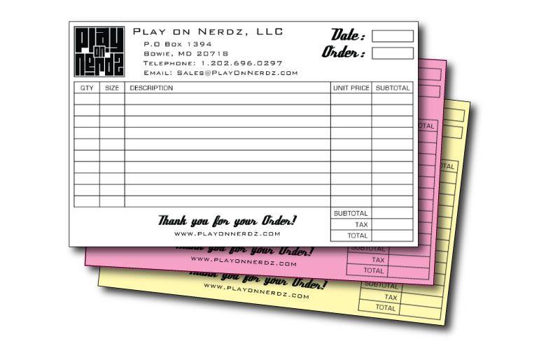 carbonless order forms designed \ printed for a t-shirt printer - t shirt order form
