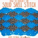 Naučte sa, ako #crochet Solid Shell Stitch - obsahuje pokyny pre prácu s plochou, na bicykli, alebo ako lemovanie!