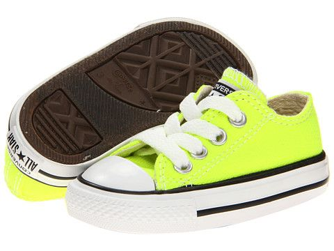 05f6d1eb9e9 Converse Kids Chuck Taylor® All Star® Ox (Infant Toddler) Electric Yellow -  6pm.com
