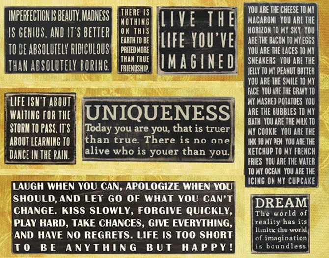 multiple quotes on different size canvases large bedroom wall decor - Bedroom Wall Plaques