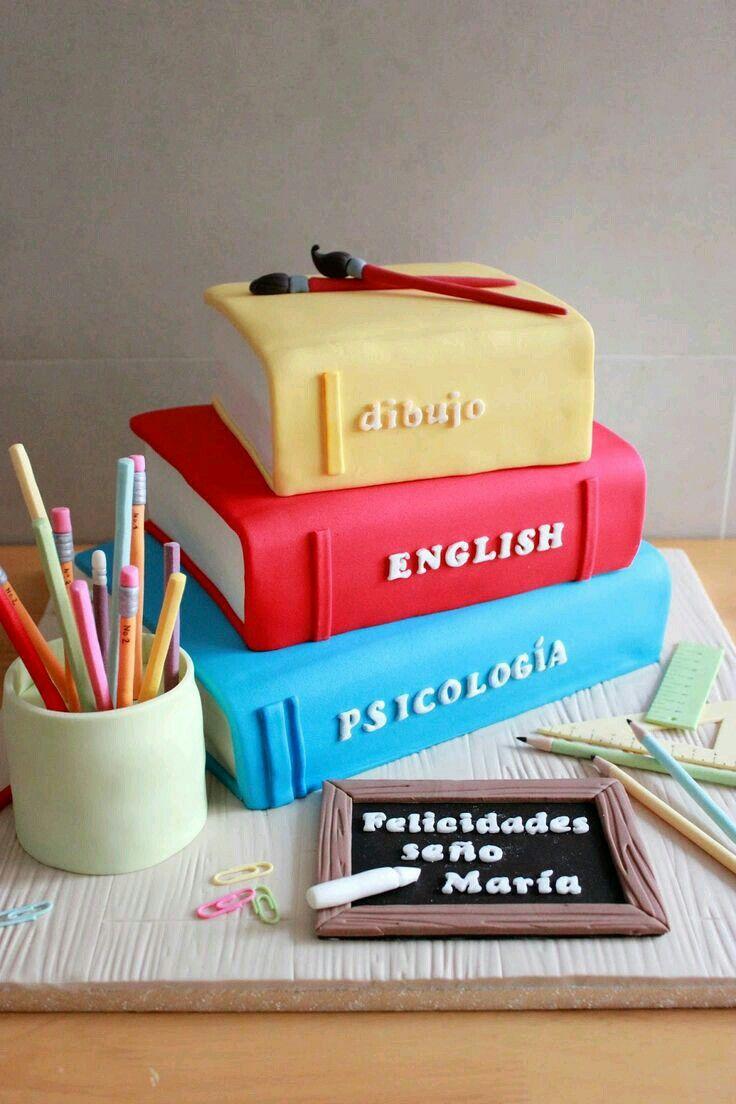 Textbook Theme Birthday Cake
