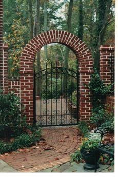 Brick Garden Arch With Images Garden Arches Brick Garden