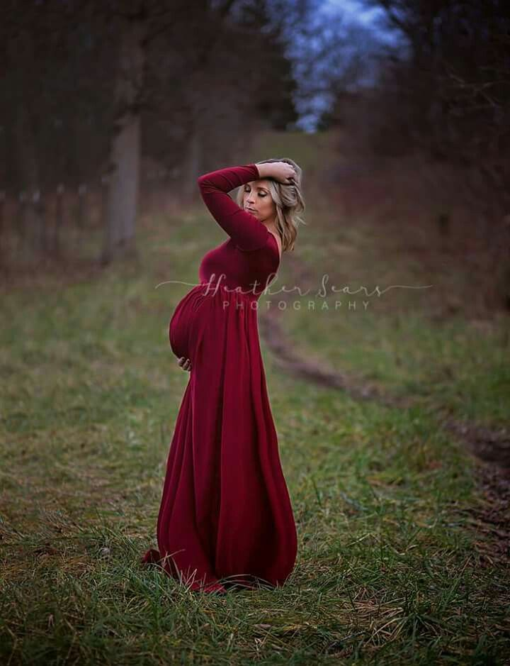 51c0d10534d73 Maternity photo maternity gown red dress red gown nature maternity  photography mom mother baby bump Www
